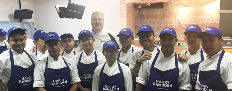 James flies all the way to Harry Ramsden's in Genting, Malaysia!