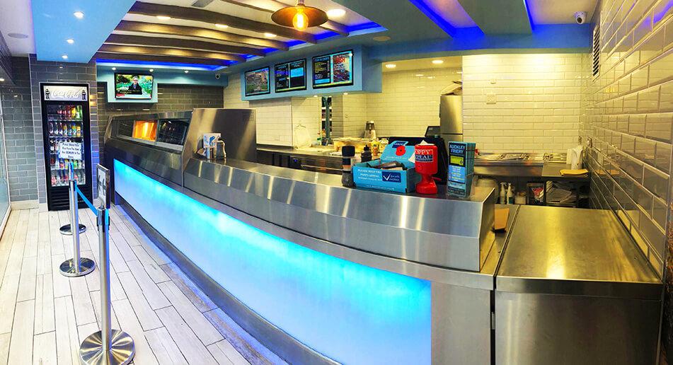 Florigo Frying Range In A Fish & Chip Shop