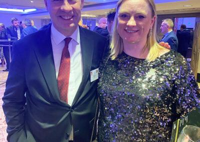 Michael Rhodes and Carol-Ann at National Fish & Chip Awards
